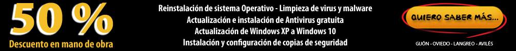 Abre en nueva ventana: Oferta descuento 50% en mano de obra informática