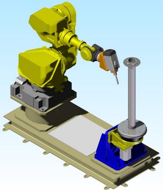 Instalación robotizada de mecanizado