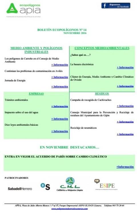 Federación de Polígonos Industriales de Asturias - Boletín Ecopolígonos nº 14 - Federación de Polígonos Industriales de Asturias