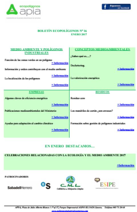 Federación de Polígonos Industriales de Asturias - Boletín Ecopolígonos nº 16 - Federación de Polígonos Industriales de Asturias