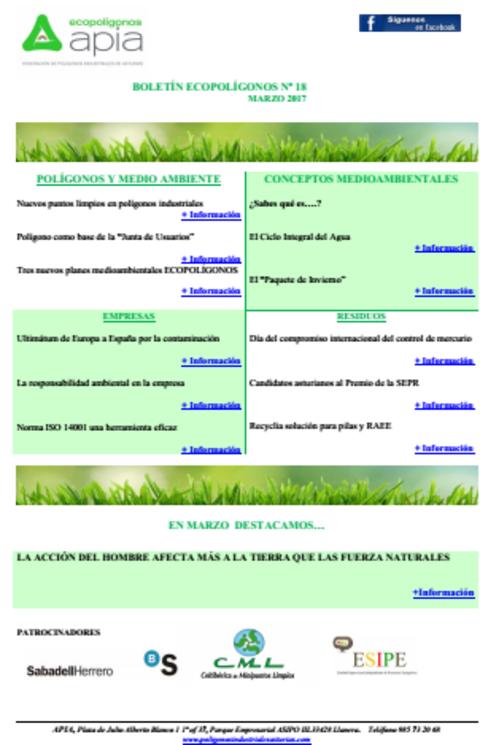 Federación de Polígonos Industriales de Asturias - Boletín Ecopolígonos nº 18 - Federación de Polígonos Industriales de Asturias
