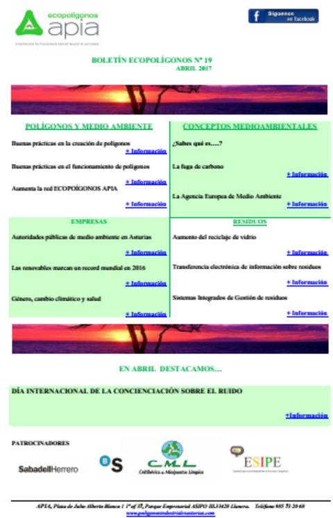 Federación de Polígonos Industriales de Asturias - Boletín Ecopolígonos nº 19 - Federación de Polígonos Industriales de Asturias