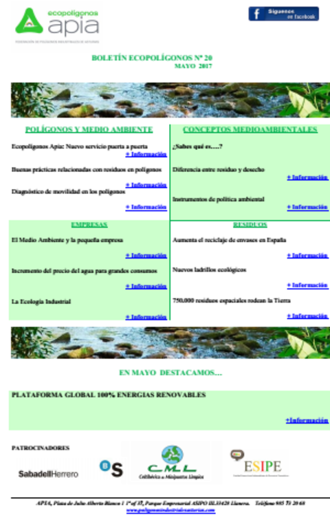 Federación de Polígonos Industriales de Asturias - Boletín Ecopolígonos nº 20 - Federación de Polígonos Industriales de Asturias
