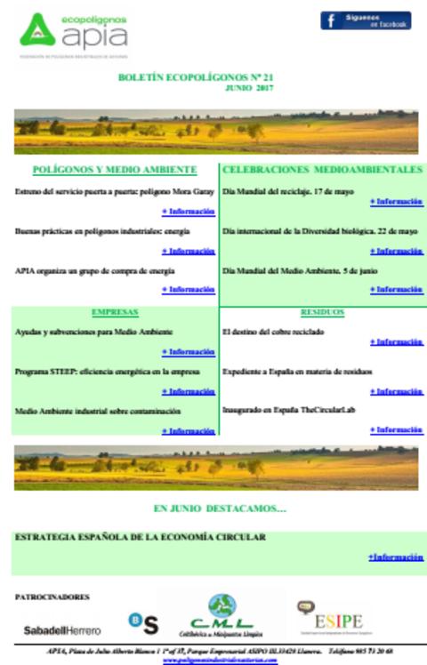 Federación de Polígonos Industriales de Asturias - Boletín Ecopolígonos nº 21 - Federación de Polígonos Industriales de Asturias