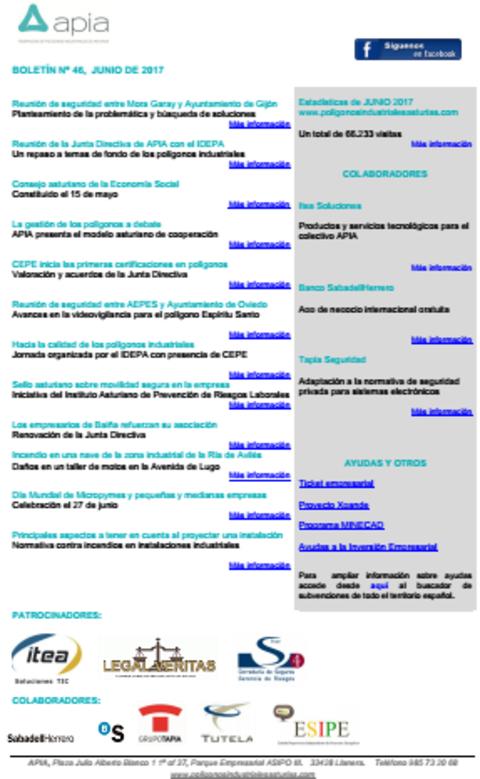 Federación de Polígonos Industriales de Asturias - Boletín nº 46, junio de 2017 - Federación de Polígonos Industriales de Asturias