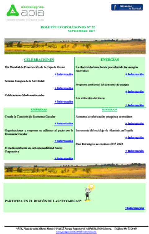 Federación de Polígonos Industriales de Asturias - Boletín Ecopolígonos Nº 22 - Federación de Polígonos Industriales de Asturias
