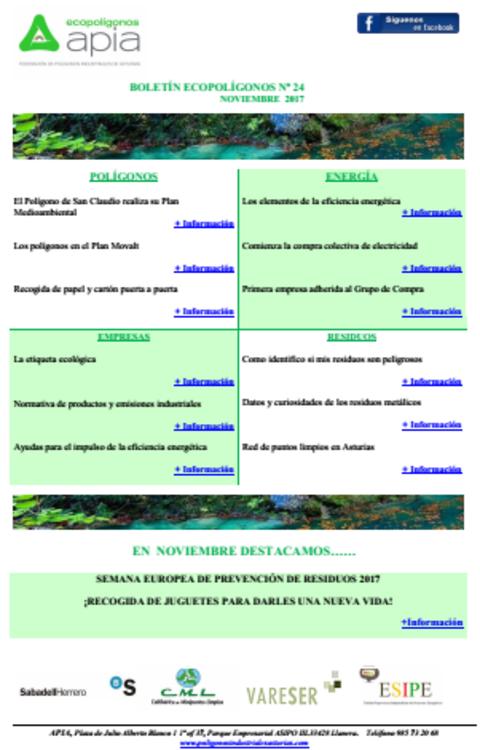 Federación de Polígonos Industriales de Asturias - Boletín Ecopolígonos Nº 24 - Federación de Polígonos Industriales de Asturias
