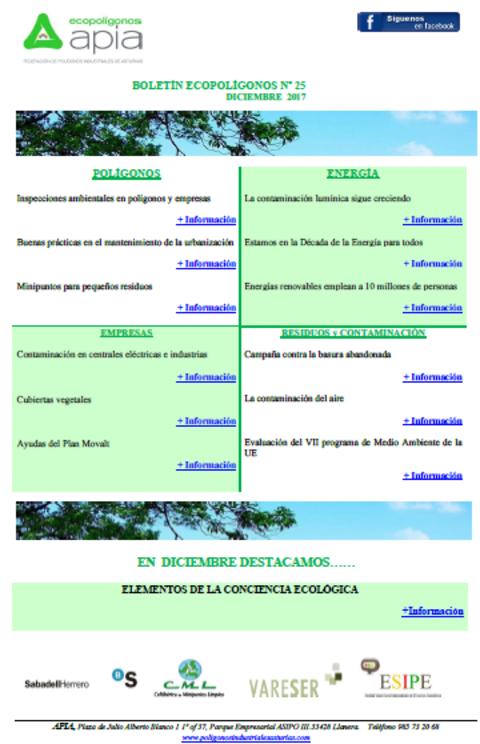 Federación de Polígonos Industriales de Asturias - Boletín Ecopolígonos Nº 25 - Federación de Polígonos Industriales de Asturias