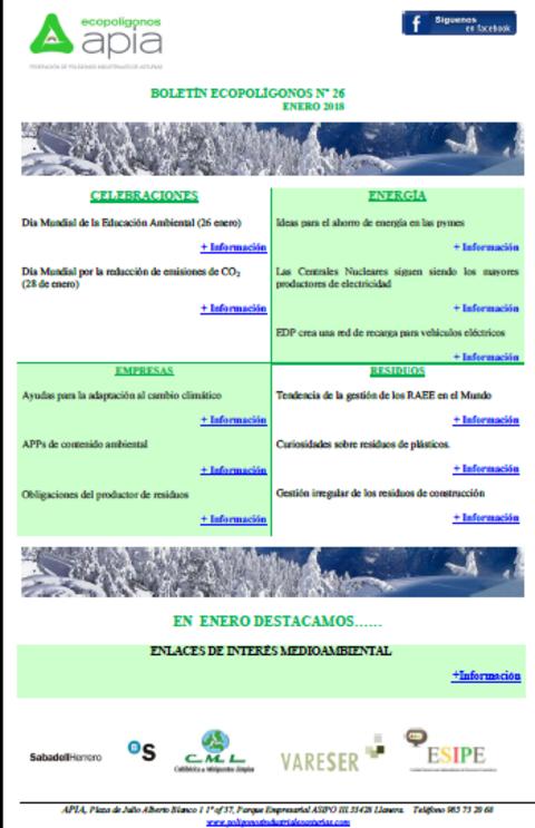 Federación de Polígonos Industriales de Asturias - Boletín Ecopolígonos Nº 26 - Federación de Polígonos Industriales de Asturias
