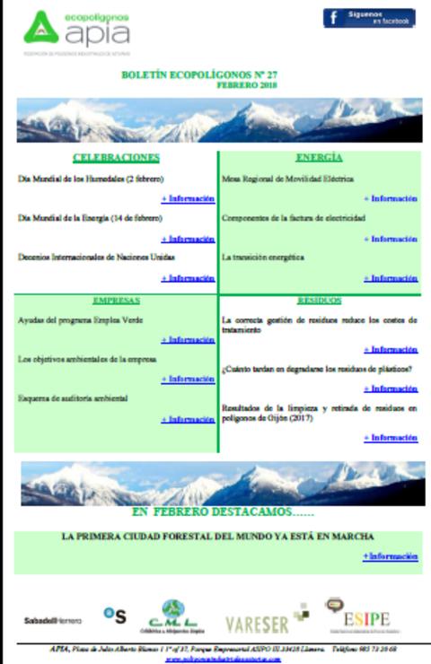 Federación de Polígonos Industriales de Asturias - Boletín Ecopolígonos Nº27 - Federación de Polígonos Industriales de Asturias