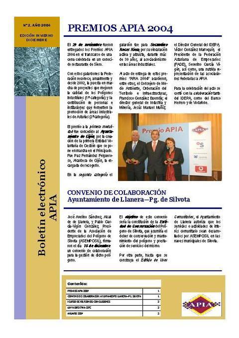 Federación de Polígonos Industriales de Asturias - Boletín Nº 2 Diciembre 2004 - Federación de Polígonos Industriales de Asturias