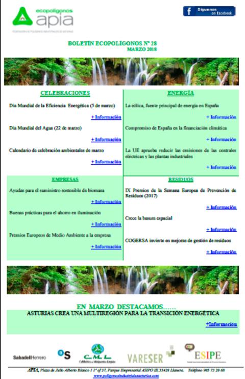 Federación de Polígonos Industriales de Asturias - Boletín Ecopolígonos Nº 28 - Federación de Polígonos Industriales de Asturias