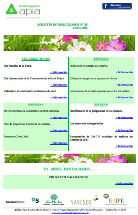 Federación de Polígonos Industriales de Asturias - Boletín Ecopolígonos Nº 29 - Federación de Polígonos Industriales de Asturias