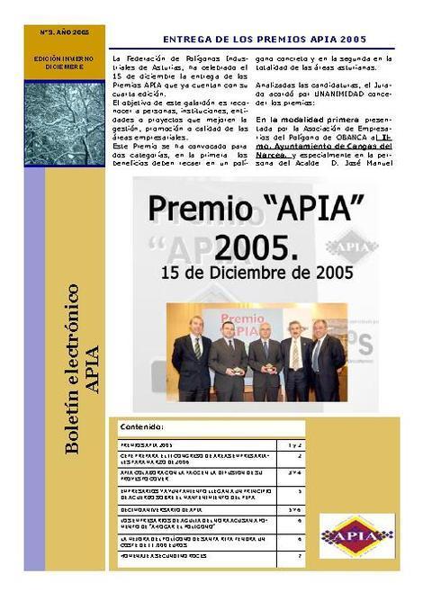 Federación de Polígonos Industriales de Asturias - Boletín Nº 9 Diciembre 2005 - Federación de Polígonos Industriales de Asturias