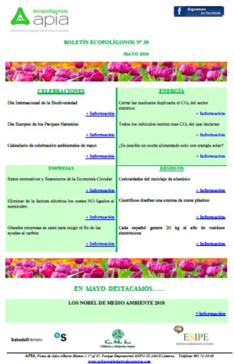 Federación de Polígonos Industriales de Asturias - Boletín Ecopolígonos Nº 30 - Federación de Polígonos Industriales de Asturias