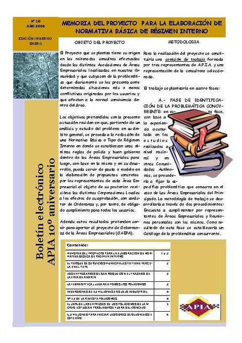 Federación de Polígonos Industriales de Asturias - Boletín Nº 10 Enero 2006 - Federación de Polígonos Industriales de Asturias