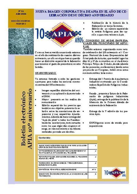 Federación de Polígonos Industriales de Asturias - Boletín Nº 11 Febrero 2006 - Federación de Polígonos Industriales de Asturias