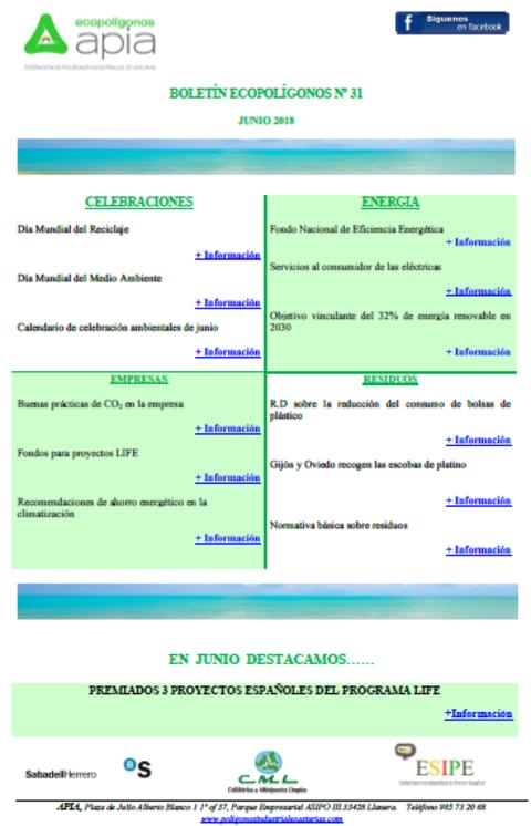 Federación de Polígonos Industriales de Asturias - Boletín Ecopolígonos Nº 31 - Federación de Polígonos Industriales de Asturias