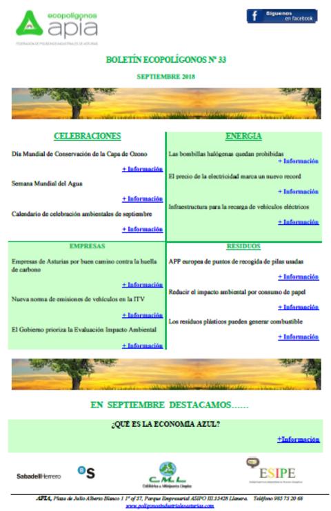 Federación de Polígonos Industriales de Asturias - Boletín Ecopolígonos Nº33 - Federación de Polígonos Industriales de Asturias