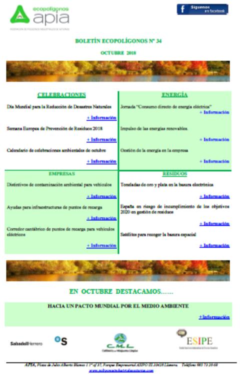 Federación de Polígonos Industriales de Asturias - Boletín Ecopolígonos Nº 34 - Federación de Polígonos Industriales de Asturias