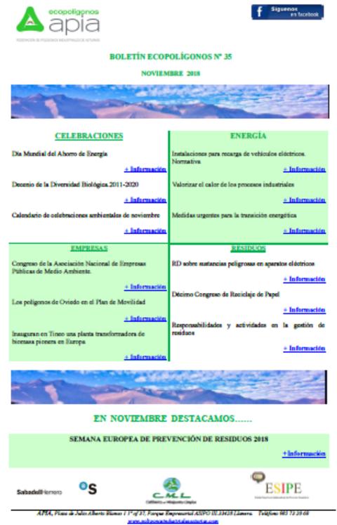 Federación de Polígonos Industriales de Asturias - Boletín Ecopolígonos Nº 35 - Federación de Polígonos Industriales de Asturias