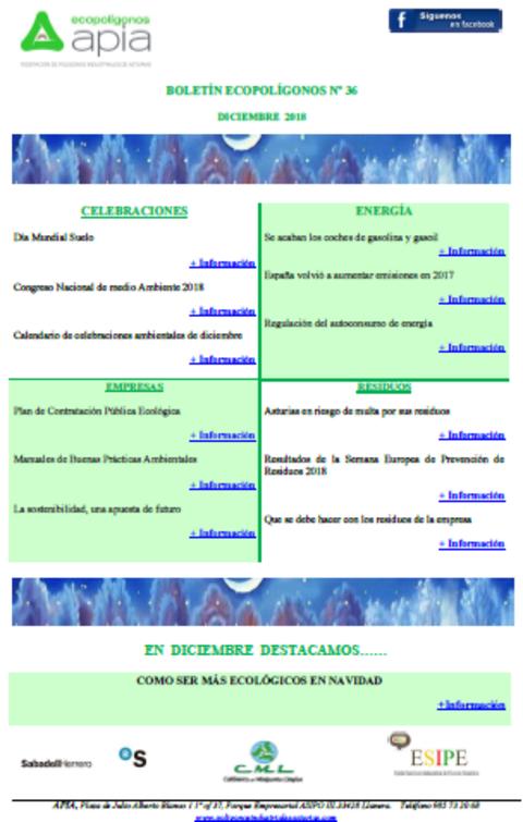 Federación de Polígonos Industriales de Asturias - Boletín Ecopolígonos Nº 36 - Federación de Polígonos Industriales de Asturias
