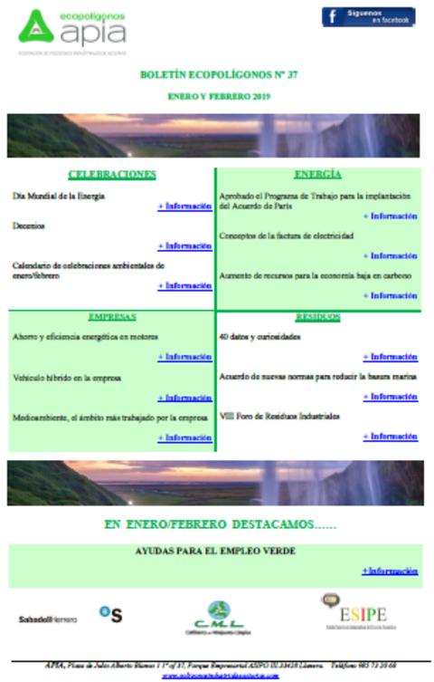 Federación de Polígonos Industriales de Asturias - Boletín Ecopolígonos Nº 37 - Federación de Polígonos Industriales de Asturias
