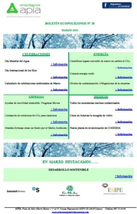 Federación de Polígonos Industriales de Asturias - Boletín Ecopolígonos Nº 38 - Federación de Polígonos Industriales de Asturias