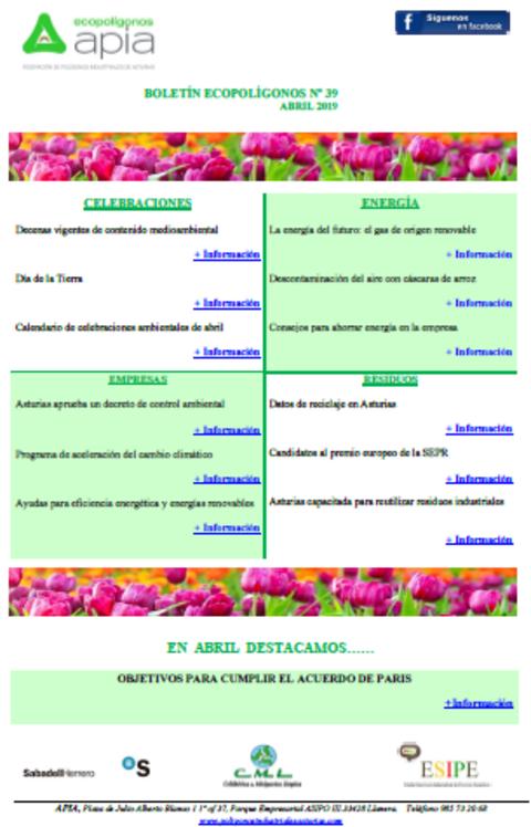 Federación de Polígonos Industriales de Asturias - Boletín Ecopolígonos Nº 39 - Federación de Polígonos Industriales de Asturias