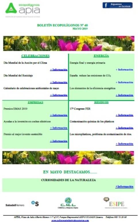 Federación de Polígonos Industriales de Asturias - Boletín Ecopolígonos nº 40, mayo 2019 - Federación de Polígonos Industriales de Asturias
