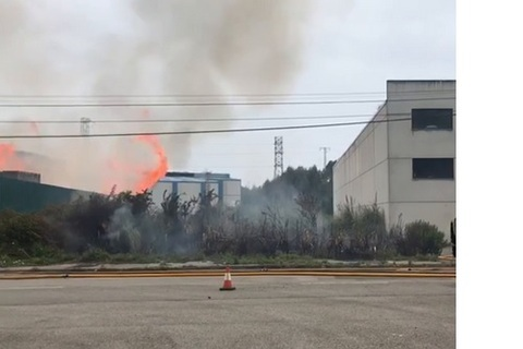 Federación de Polígonos Industriales de Asturias - INCENDIO EN EL POLÍGONO DE MAQUA - Federación de Polígonos Industriales de Asturias