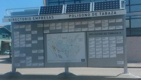 Federaci�n de Pol�gonos Industriales de Asturias - TABAZA UTILIZA ENERGIA FOTOVOLTAICA PARA SUS DIRECTORIOS - Federaci�n de Pol�gonos Industriales de Asturias