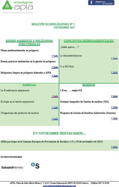 Federación de Polígonos Industriales de Asturias -  Boletín Ecopolígonos nº 2 - Federación de Polígonos Industriales de Asturias