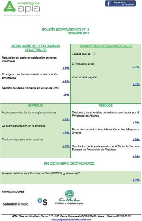 Federación de Polígonos Industriales de Asturias - Boletín Ecopolígonos nº 3 - Federación de Polígonos Industriales de Asturias