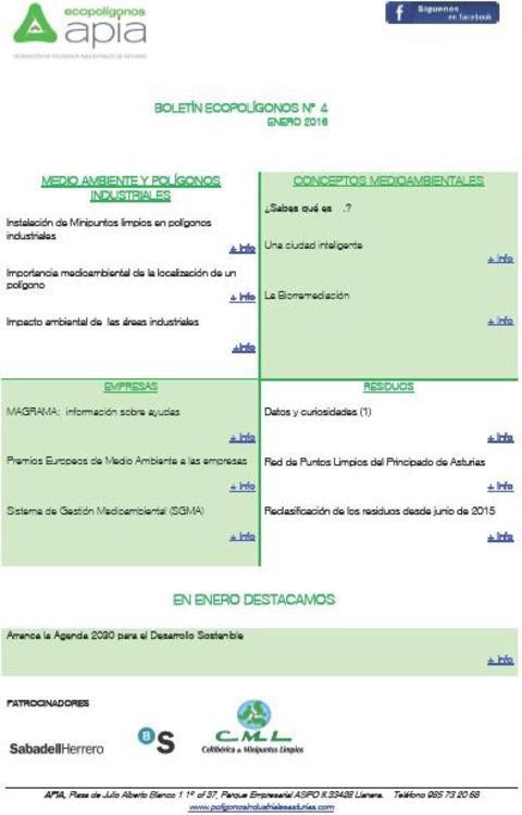 Federación de Polígonos Industriales de Asturias - Boletín Ecopolígonos nº 4 - Federación de Polígonos Industriales de Asturias