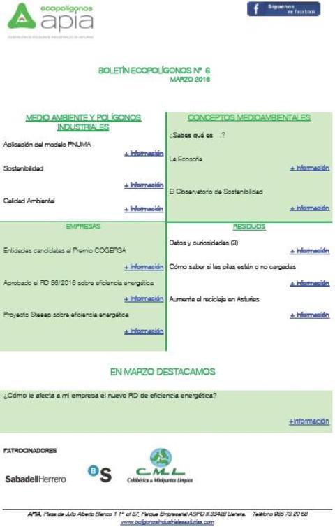 Federación de Polígonos Industriales de Asturias - Boletín Ecopolígonos nº 6 - Federación de Polígonos Industriales de Asturias