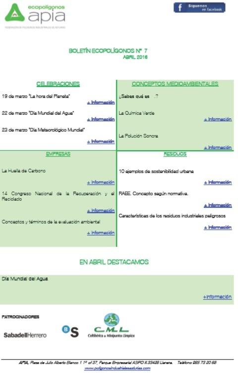 Federación de Polígonos Industriales de Asturias - Boletín Ecopolígonos nº 7 - Federación de Polígonos Industriales de Asturias