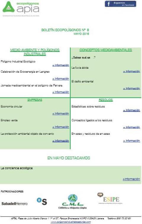 Federación de Polígonos Industriales de Asturias - Boletín Ecopolígonos nº 8 - Federación de Polígonos Industriales de Asturias