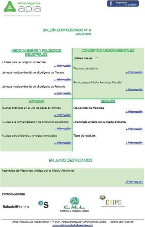 Federación de Polígonos Industriales de Asturias - Boletín Ecopolígonos nº 9 - Federación de Polígonos Industriales de Asturias