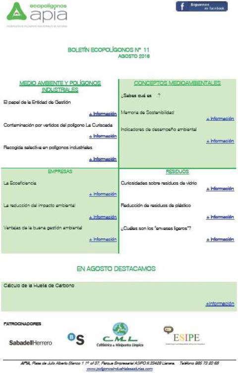 Federación de Polígonos Industriales de Asturias - Boletín Ecopolígonos nº 11 - Federación de Polígonos Industriales de Asturias