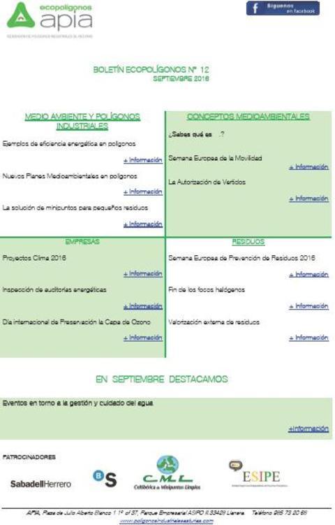 Federación de Polígonos Industriales de Asturias - Boletín Ecopolígonos nº 12 - Federación de Polígonos Industriales de Asturias