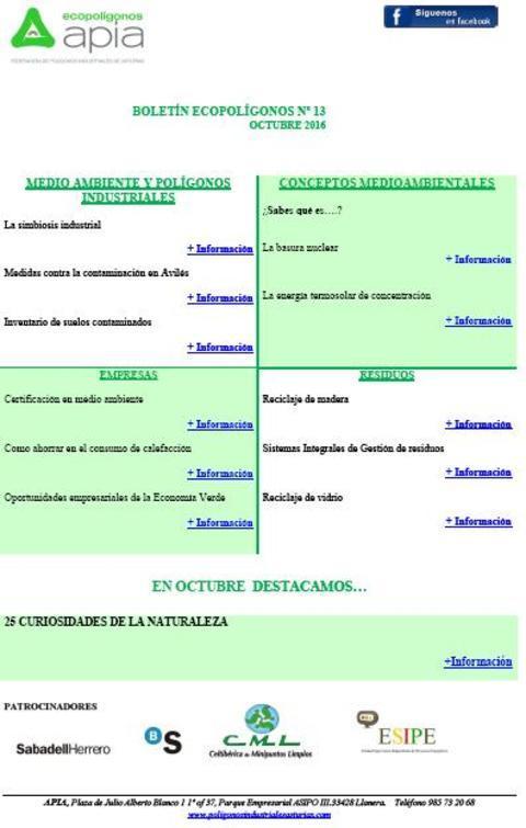 Federación de Polígonos Industriales de Asturias - Boletín Ecopoligonos nº 13 - Federación de Polígonos Industriales de Asturias